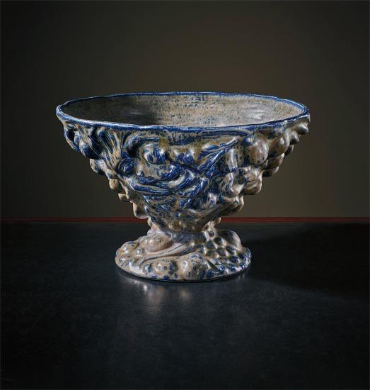 Unique and important 'Den Italienske Skaal' large bowl