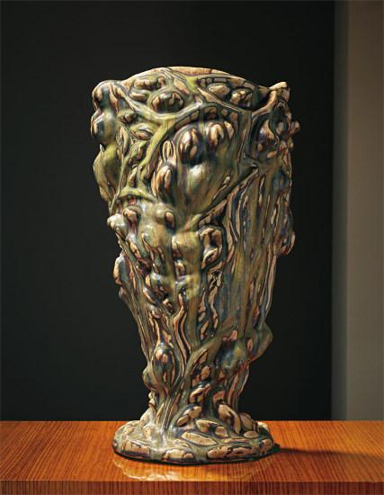 Unique large vase in 'Den Spirende Stil' (the Sprouting Style)
