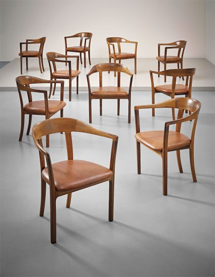 Set of ten armchairs
