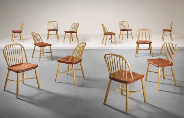Set of twelve dining chairs, designed for the Aarhus Oil Factory A/S