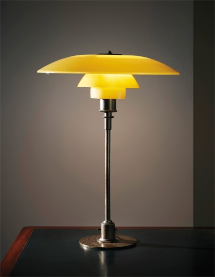 Early table lamp, with type 4½/2 shades