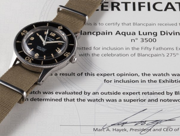A very rare and unusual stainless steel antimagnetic diver's wristwatch with centre seconds, wide bezel and certificate