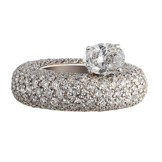 ANA KHOURI A Diamond ''Phillipa' Ring with Oval Diamond