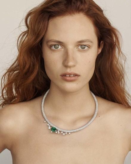 ANA KHOURI A Diamond and Emerald 'Eva' Necklace
