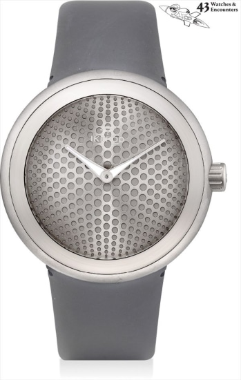 Laurent Picciotto Collection: An unusual titanium wristwatch, designed by Marc Newson