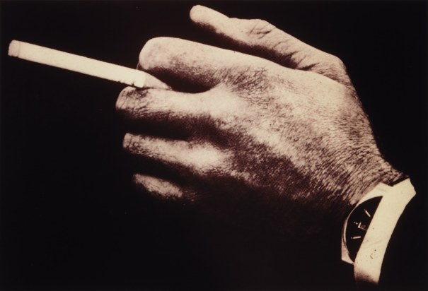 Untitled (man's hands with cigarette watch)