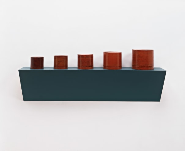Untitled (5 Burmese lacquerware containers)