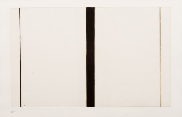BARNETT NEWMAN Untitled Etching I, 1968