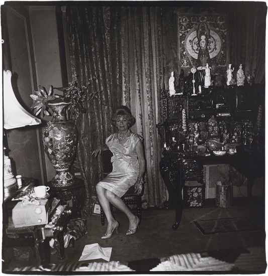 DIANE ARBUS A widow in her bedroom on 55th St., NYC, 1962