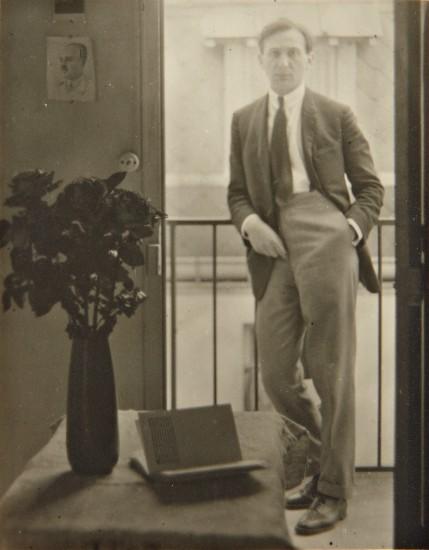 Self-portrait with Still Life of Vase & Book, Paris
