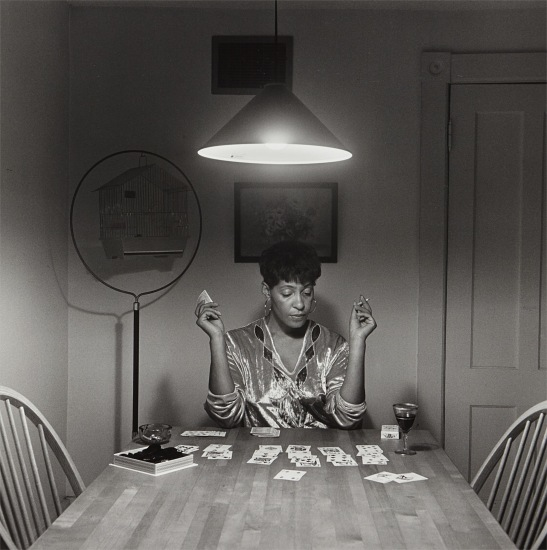 Untitled (Woman Playing Solitaire) from The Kitchen Table