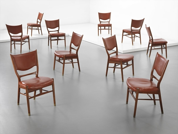 FINN JUHL Rare set of ten dining chairs, circa 1947
