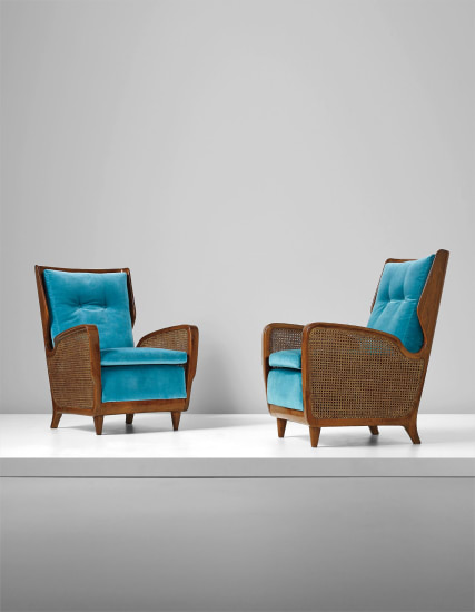 Rare pair of armchairs, model no. 489