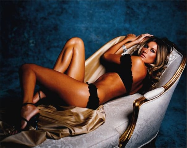 Gisele on couch, New York City