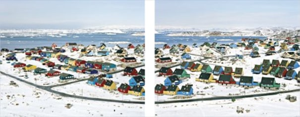 Untitled Images (Archive n° 7688 and 7689) from Ilulissat, Greenland