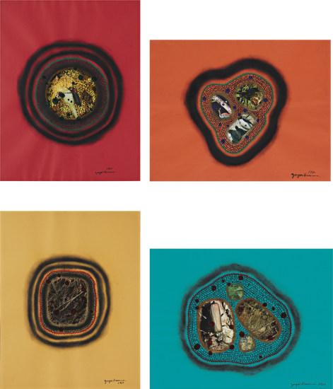 Four Works: (i) Untitled, 1983 (ii) Bird I, 1980 (iii) Untitled, 1980 (iv) Earth, 1980