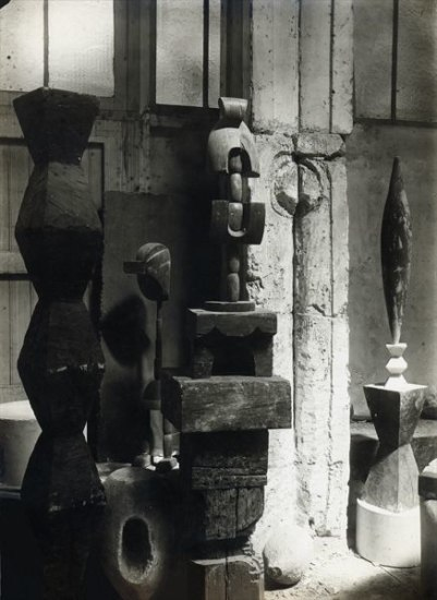 CONSTANTIN BRANCUSI View of the Studio: Portrait of Madame L.R., circa 1920