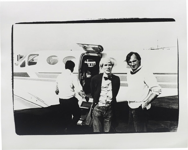 Andy Warhol and Jon Gould