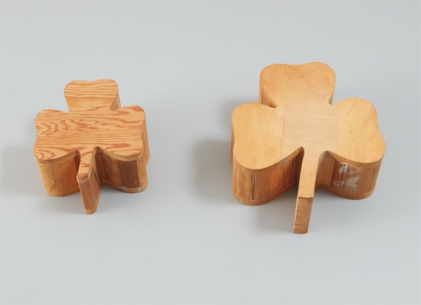 Two works: (i-ii) Wood Clovers (from Daisy Chain)