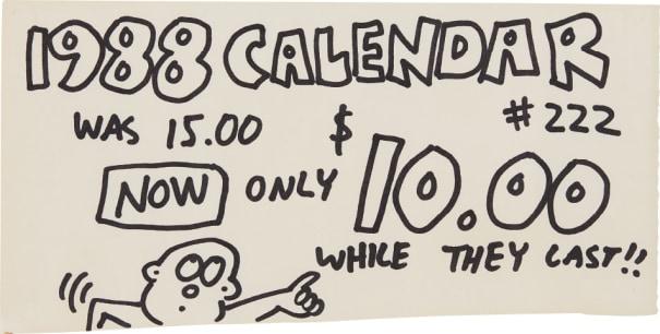Pop Shop Signage (1988 Calendars)