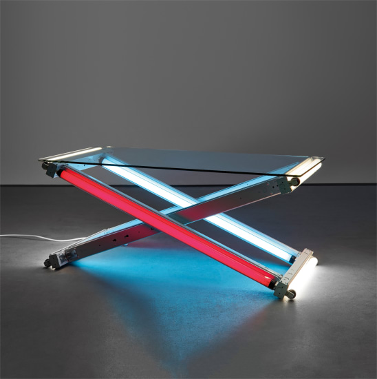 Lamp Table (Blue-Red-White)