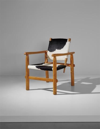 """Rare """"Calfskin"""" armchair"""