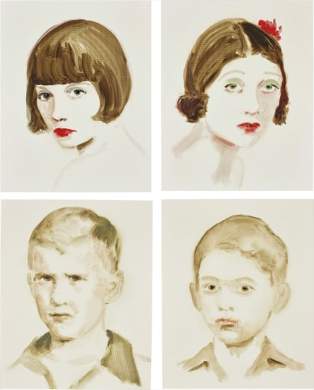 Four works: (i) Louise Brooks; (ii) Barbara La Marr; (iii) Bush; (iv) Ghandi