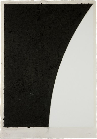 Colored Paper Image VI (White Curve with Black II), from Colored Paper Images