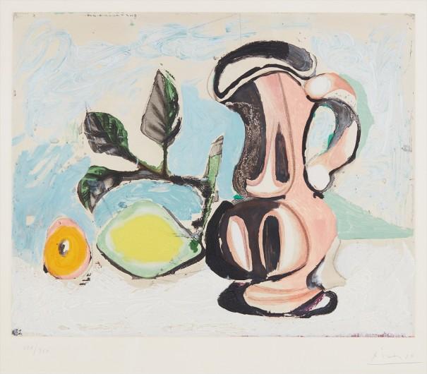 Nature morte au citron et pichet rouge (Still Life with Lemon and Red Pitcher)