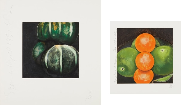 Squash from, Fruits and Flowers; and Apples and Oranges