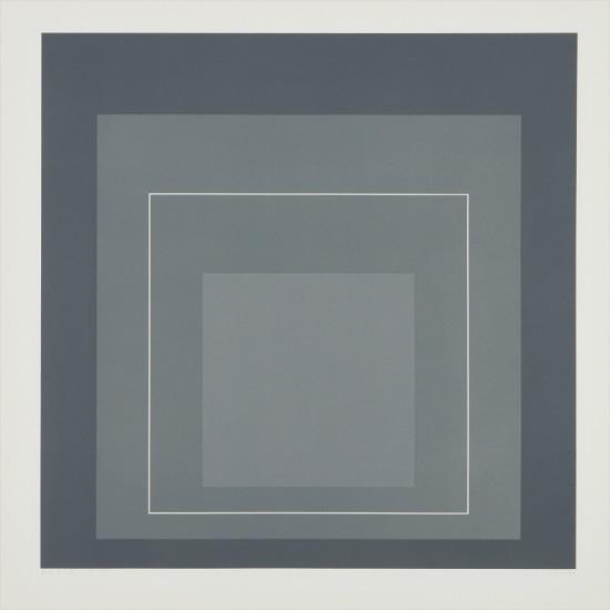 WLS V, from White Line Squares (Series I)