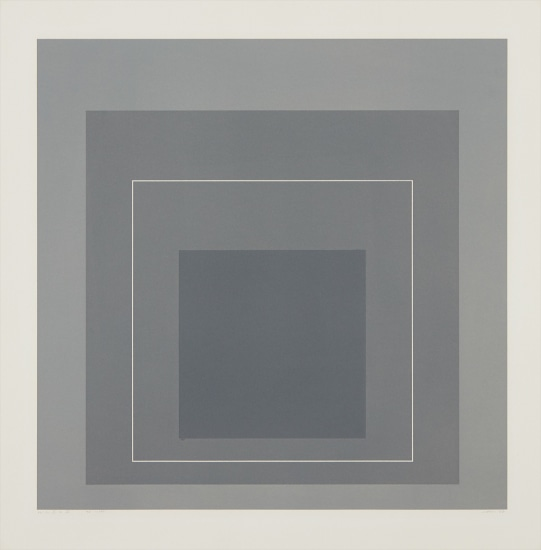 WLS II, from White Line Squares (Series I)
