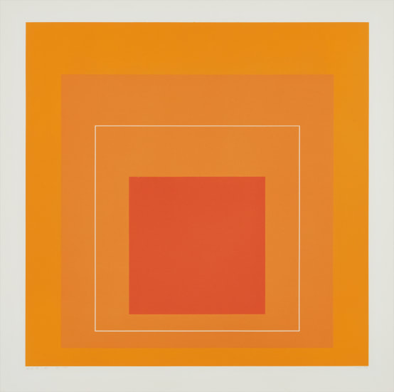 WLS VI, from White Line Squares (Series I)