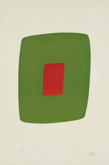 Green with Red, from Suite of Twenty-Seven Color Lithographs