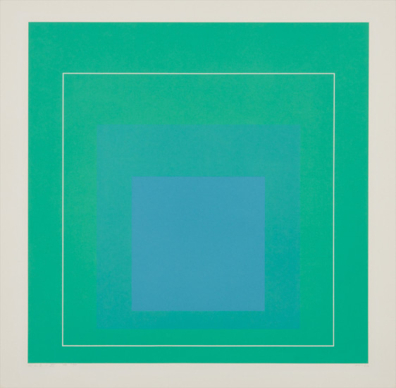 WLS III, from White Line Squares (Series I)