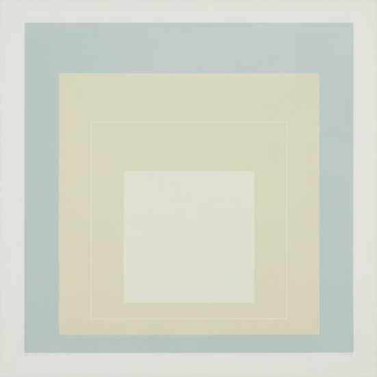 WLS VII, from White Line Squares (Series I)