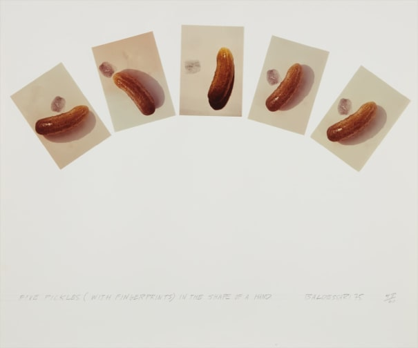 Five Pickles (With Fingerprints) in the Shape of a Hand, from Artists & Photographers