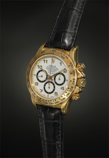 An attractive and most probably unique yellow gold chronograph wristwatch with retailer code on the lug and clasp, retailed by Van Cleef & Arpels