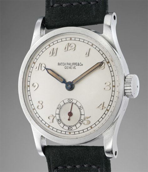 A rare stainless steel wristwatch with Breguet numerals, luminous hour markers and hands, presented by H.H. Windsor