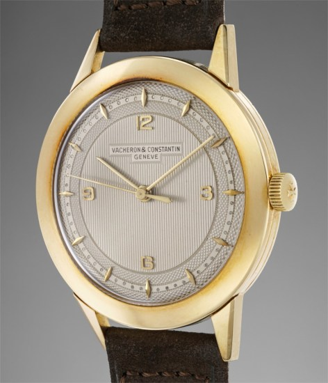 A fine and attractive yellow gold wristwatch with guilloché dial