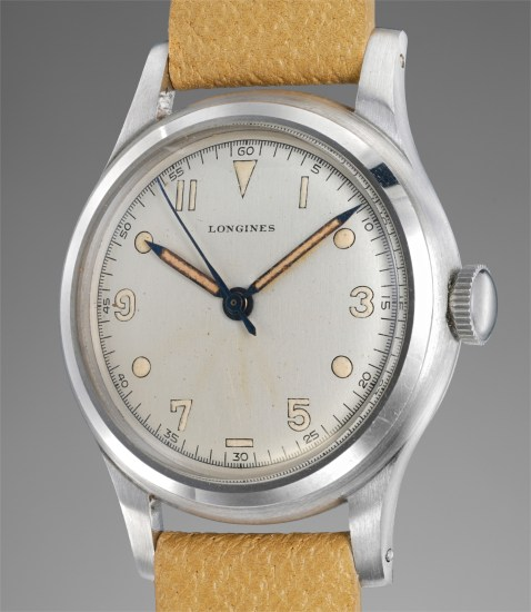 An attractive, rare and wonderfully preserved stainless steel wristwatch with center seconds