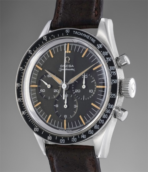 A fine and rare stainless steel chronograph wristwatch with tachymeter bezel
