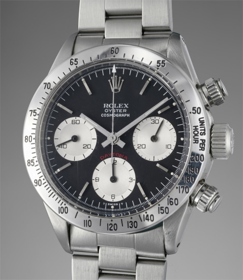 An attractive stainless steel chronograph wristwatch with bracelet