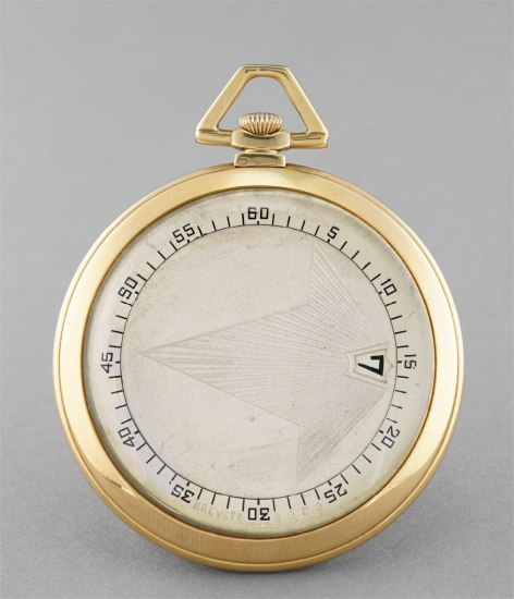 A fine and rare yellow gold jump hour pocketwatch