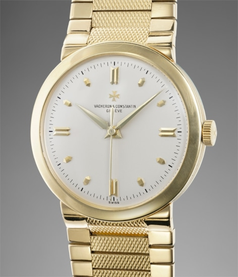 A rare and elegant yellow gold chronometer wristwatch with bracelet presented with box, original certificate, rating certificate and Geneva seal certificate