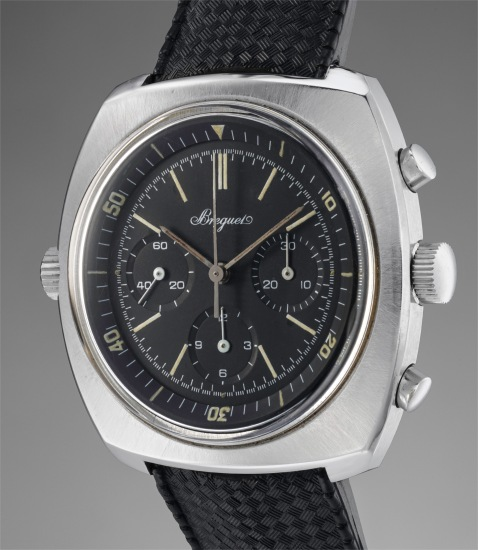 An exceedingly rare and attractive diver's flyback chronograph wristwatch with internal rotating bezel