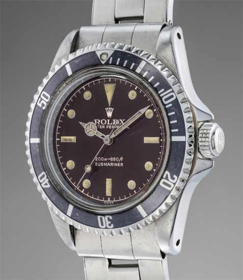 A very attractive stainless steel diver's wristwatch with glossy tropical dial and pointed crown guards