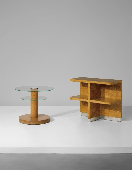 Occasional table and free-standing shelving unit, designed for Count Cantoni-Marca, Lombardy