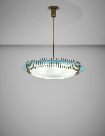 Important and rare ceiling light, model no. 12697