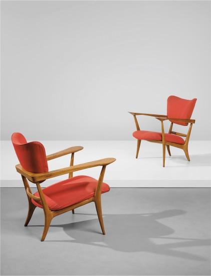 Pair of rare armchairs